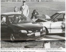 Car crashes in Auburn