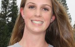 Freshman Amy Hiatt moves up to the JV volleyball team