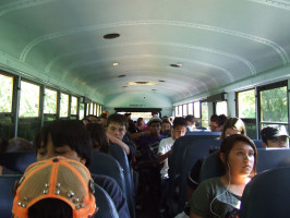Hillmen sqeeze into overcrowded buses
