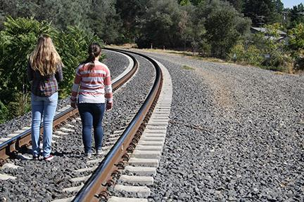 Students walking local railways are putting themselves at risk