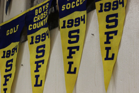 Banners in the Placer High gym hang high with pride of the many years we have been competing in multiple leagues.